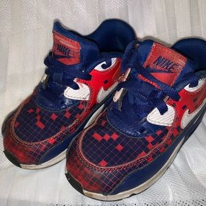 Toddler 9c Nike air max red blue